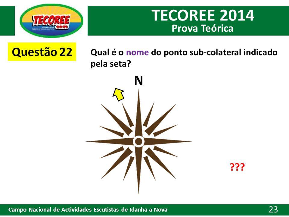 Questão 22 Qual é o nome do ponto sub-colateral indicado pela seta N