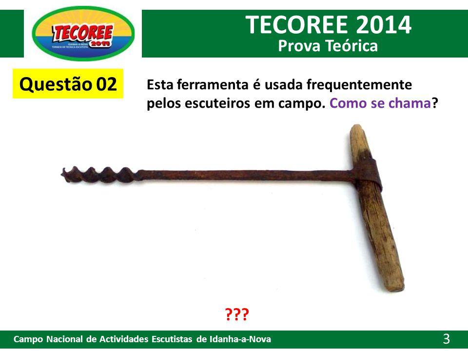 Questão 02 Esta ferramenta é usada frequentemente pelos escuteiros em campo. Como se chama