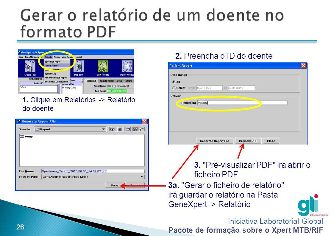 Gerar o relatório de um doente no formato PDF