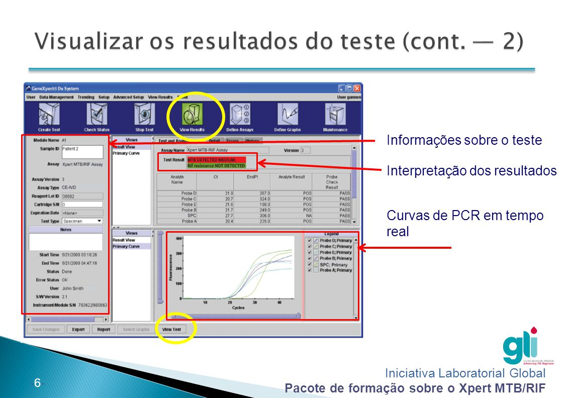 Visualizar os resultados do teste (cont. — 2)