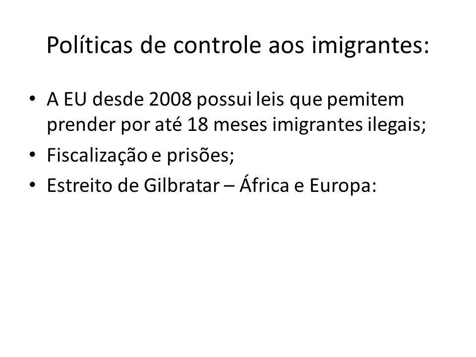 Políticas de controle aos imigrantes: