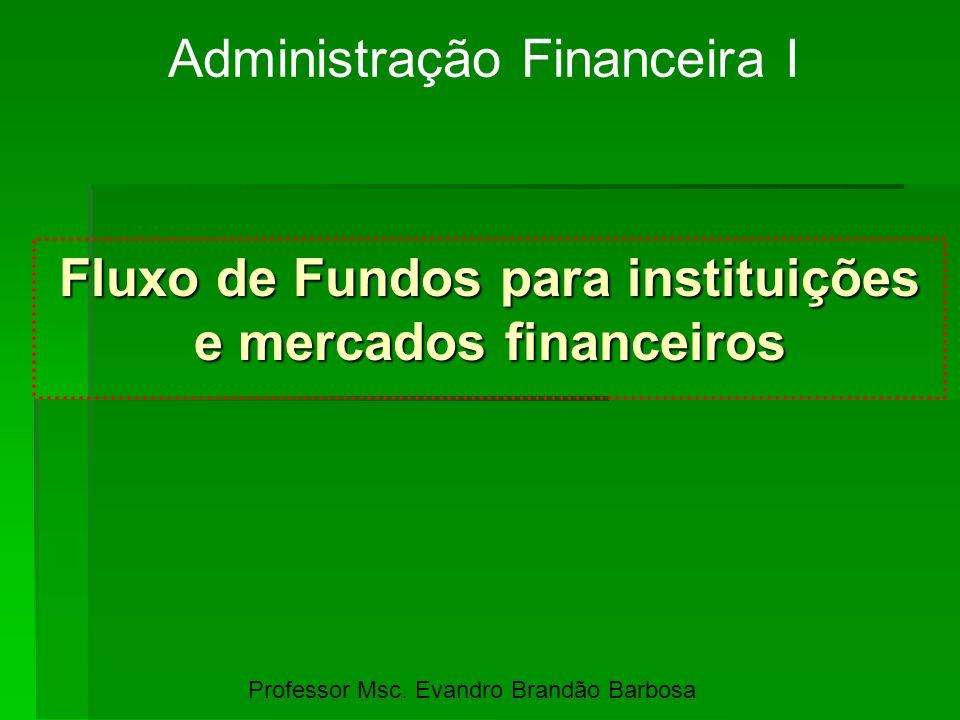 Fluxo de Fundos para instituições e mercados financeiros