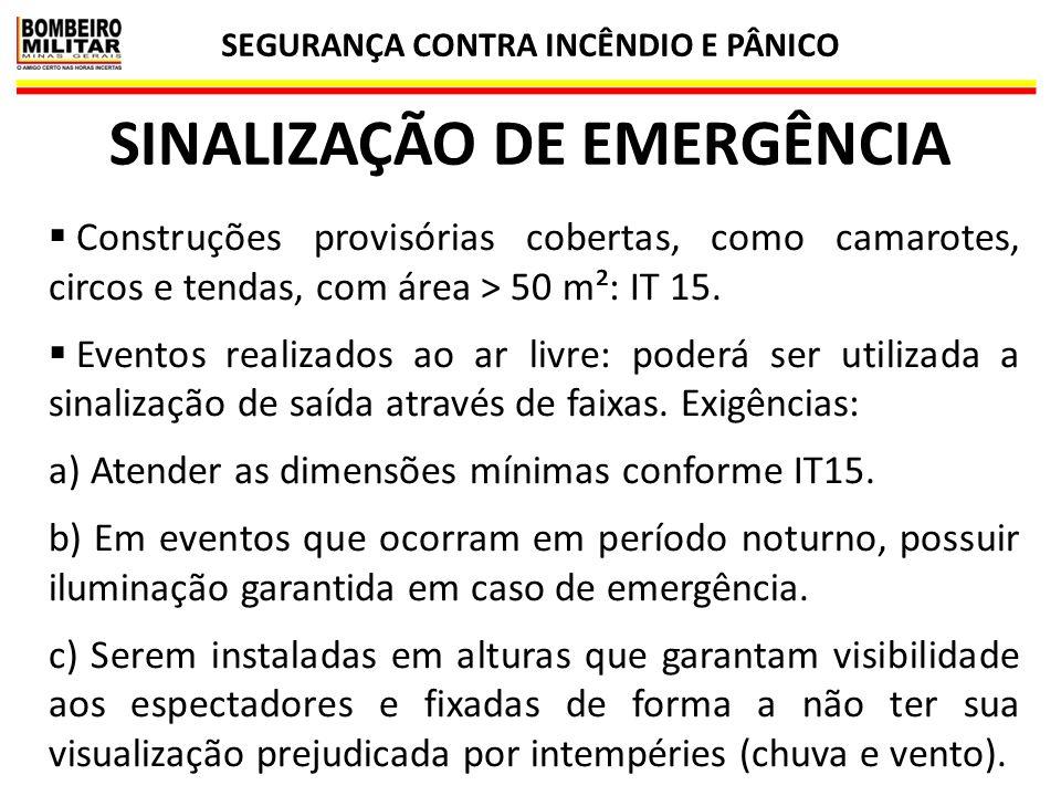 SEGURANÇA CONTRA INCÊNDIO E PÂNICO SINALIZAÇÃO DE EMERGÊNCIA