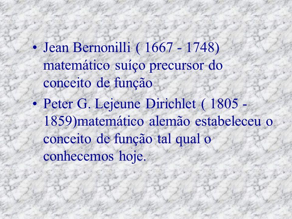 Jean Bernonilli ( 1667 - 1748) matemático suíço precursor do conceito de função