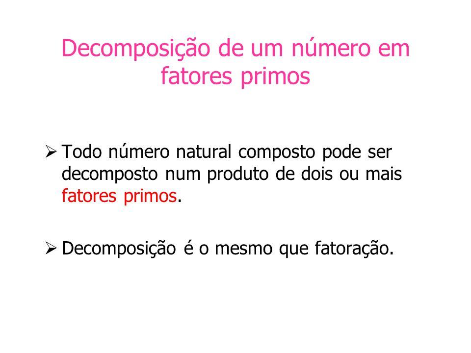 Decomposição de um número em fatores primos