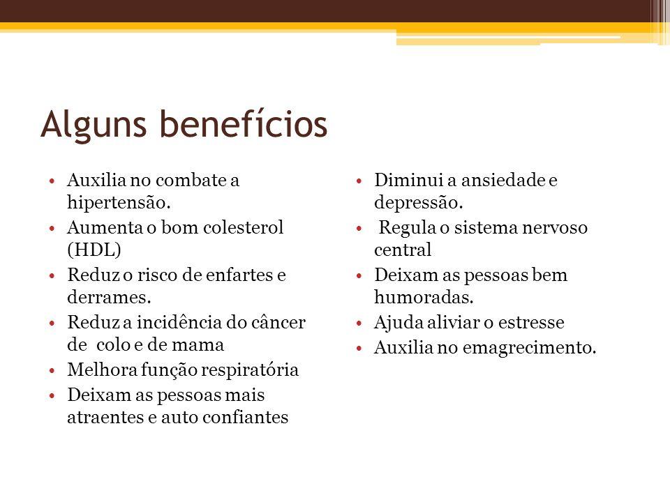 Alguns benefícios Auxilia no combate a hipertensão.