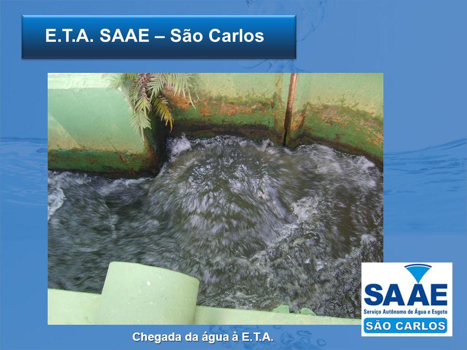 E.T.A. SAAE – São Carlos Chegada da água à E.T.A.