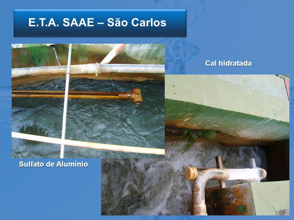 E.T.A. SAAE – São Carlos Cal hidratada Sulfato de Alumínio