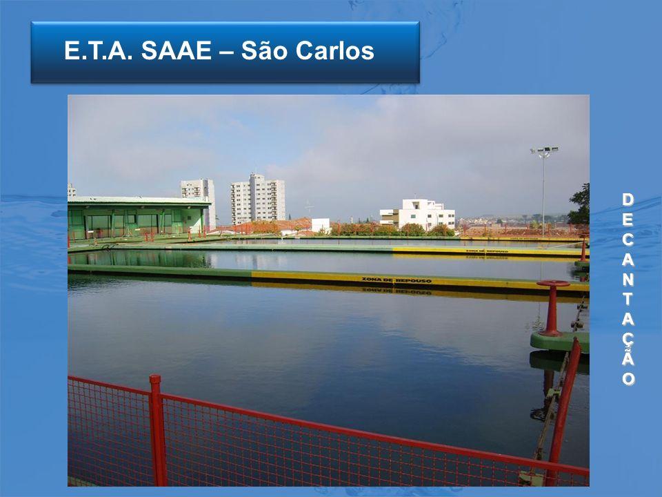 E.T.A. SAAE – São Carlos DECANTAÇÃO