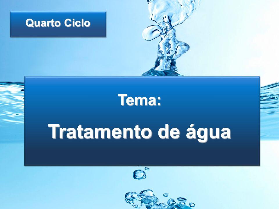 Quarto Ciclo Tema: Tratamento de água