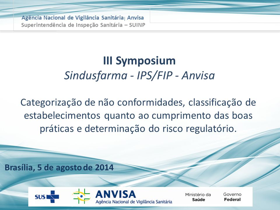Sindusfarma - IPS/FIP - Anvisa