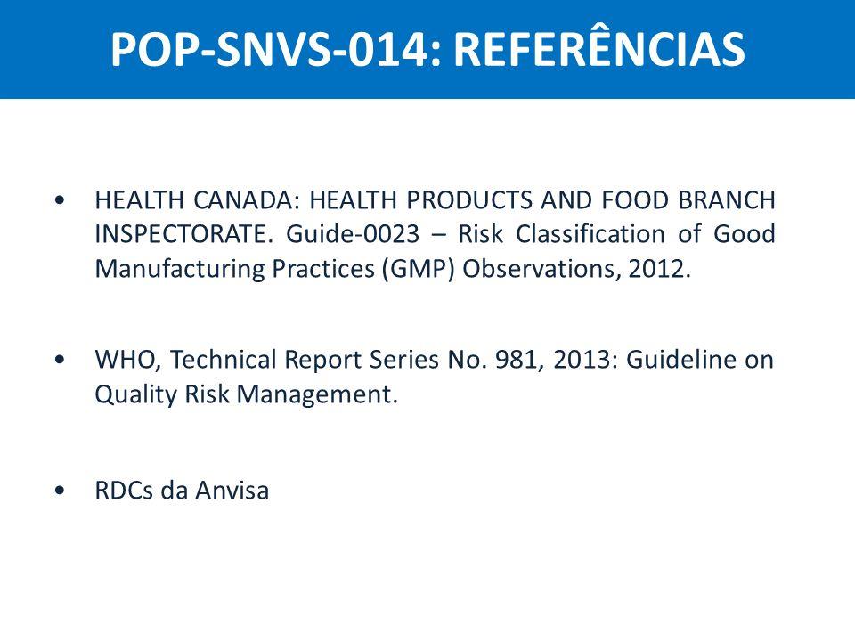 POP-SNVS-014: REFERÊNCIAS
