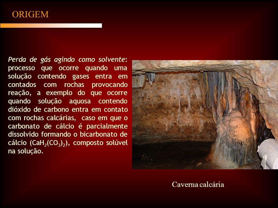 ORIGEM Caverna calcária