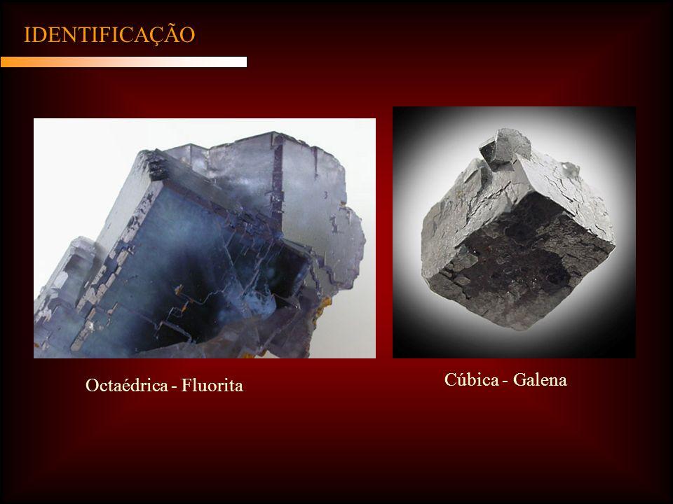 IDENTIFICAÇÃO Cúbica - Galena Octaédrica - Fluorita