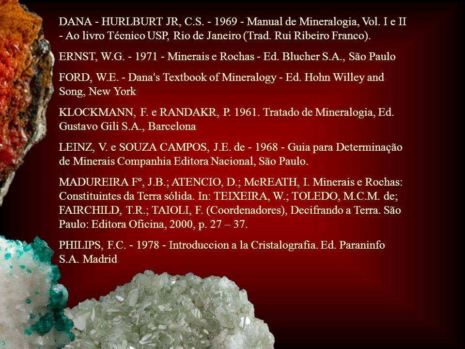 DANA - HURLBURT JR, C. S. - 1969 - Manual de Mineralogia, Vol