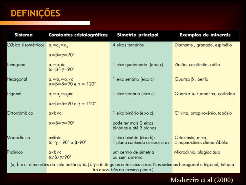 DEFINIÇÕES Madureira et al.(2000)