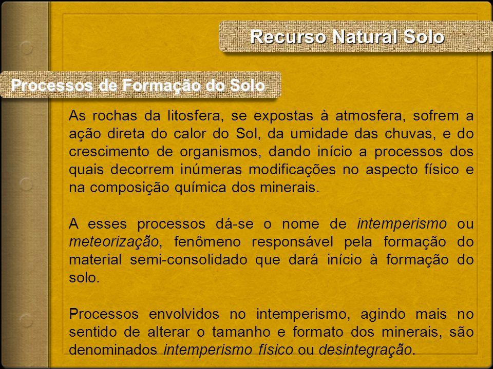 Recurso Natural Solo Processos de Formação do Solo