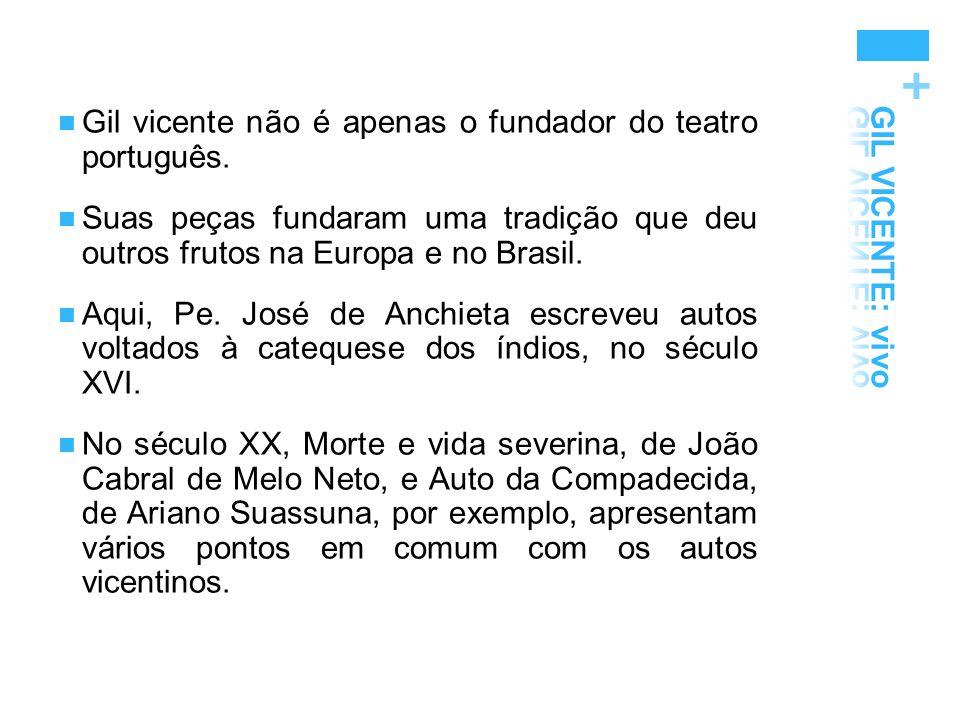 Gil vicente não é apenas o fundador do teatro português.