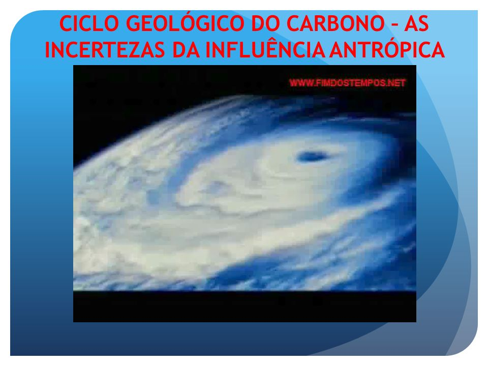 CICLO GEOLÓGICO DO CARBONO – AS INCERTEZAS DA INFLUÊNCIA ANTRÓPICA