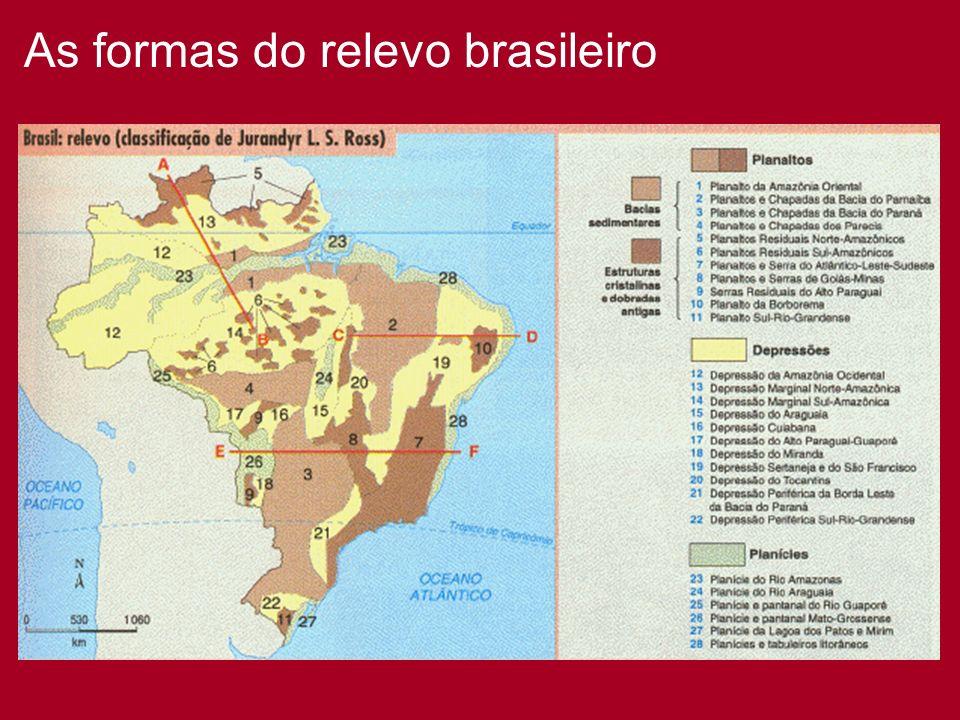 As formas do relevo brasileiro