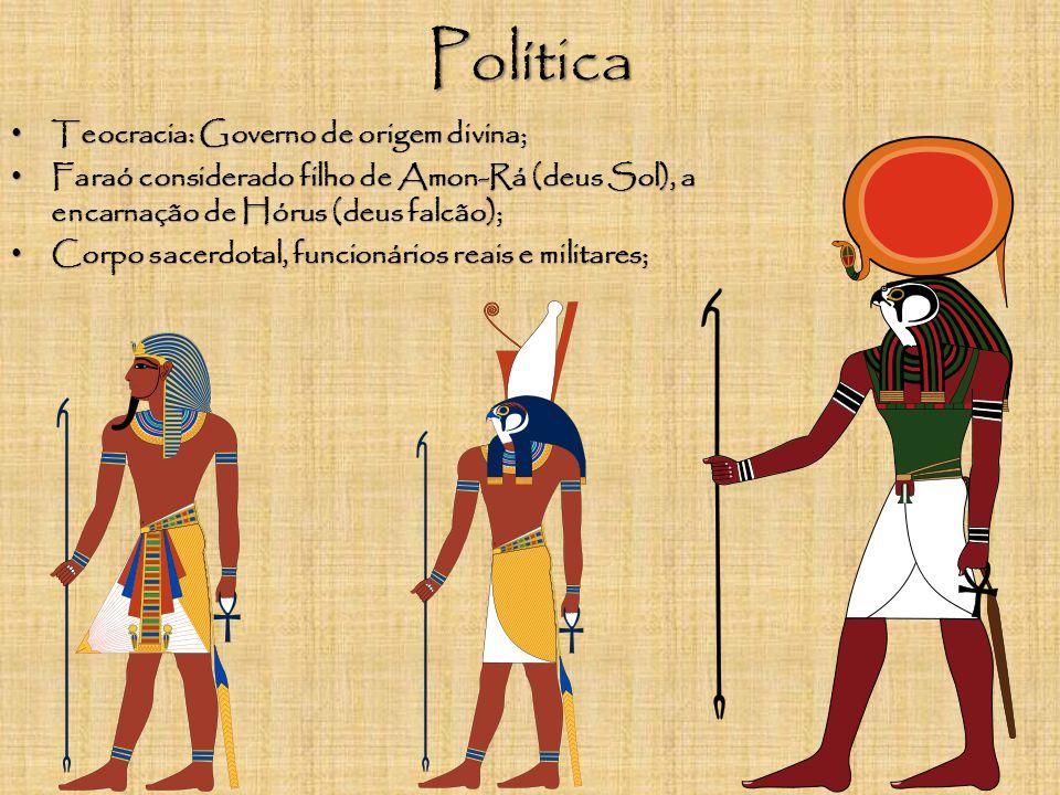 Política Teocracia: Governo de origem divina;