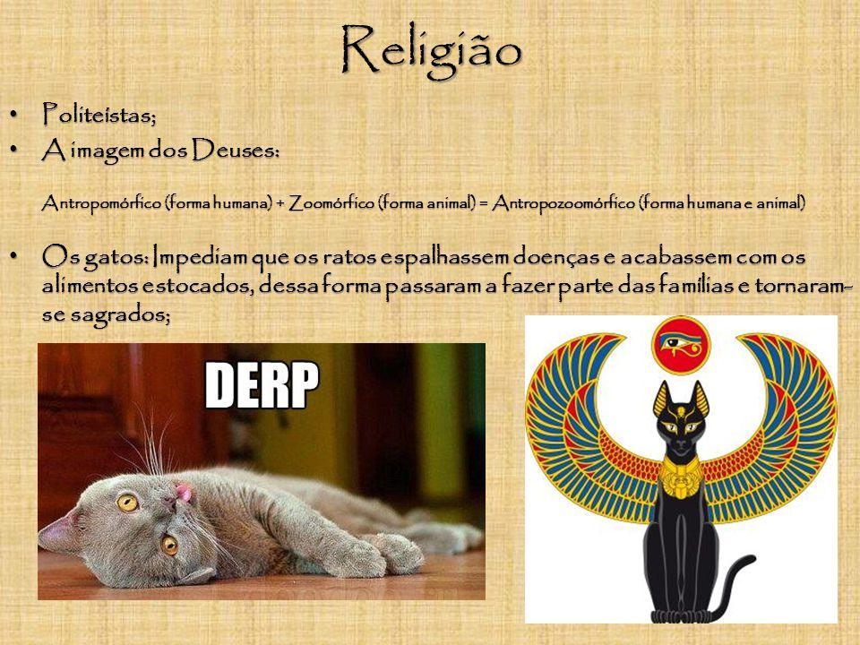 Religião Politeístas; A imagem dos Deuses: