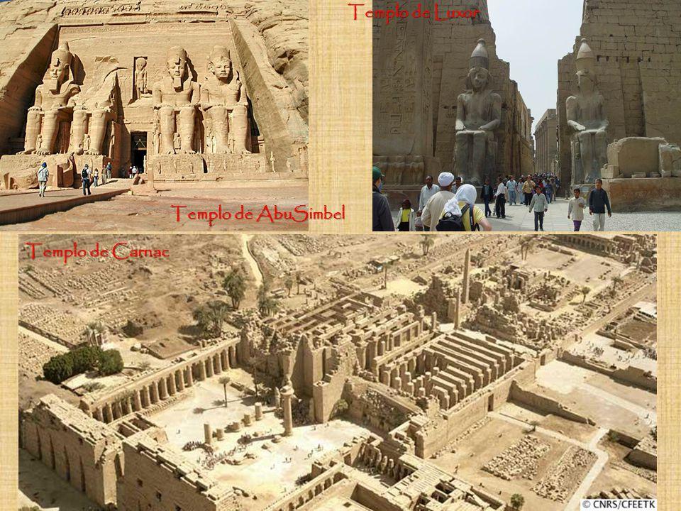 Templo de Luxor Templo de AbuSimbel Templo de Carnac