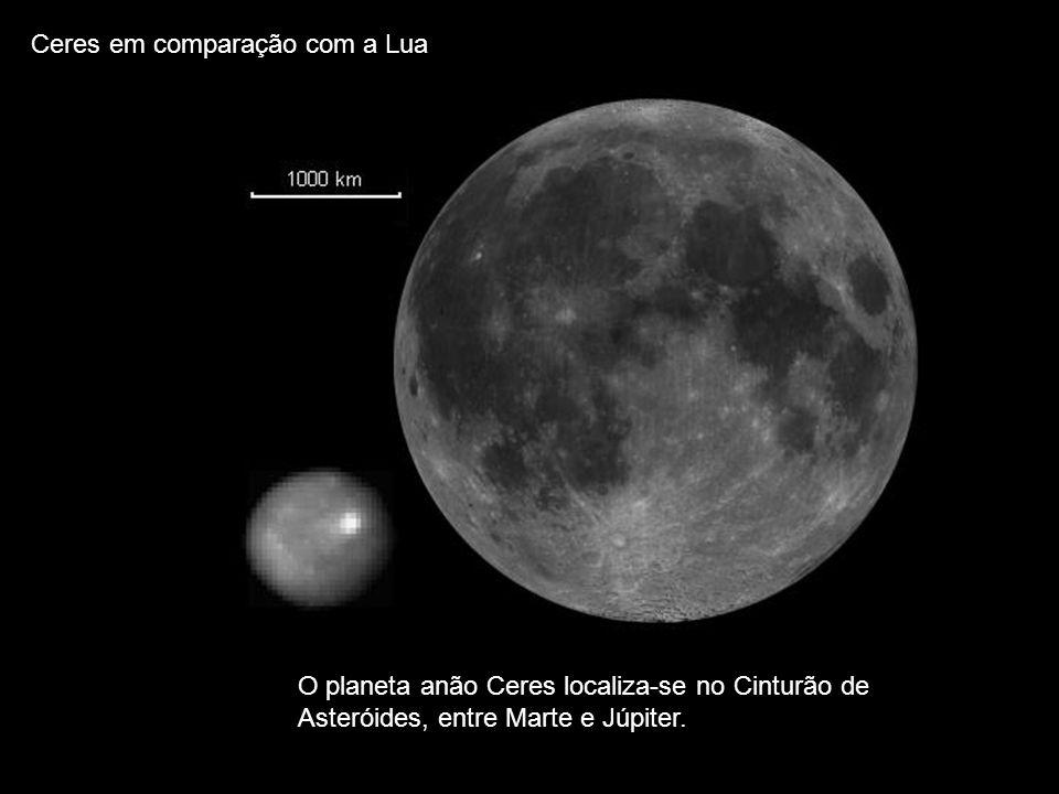 Ceres em comparação com a Lua