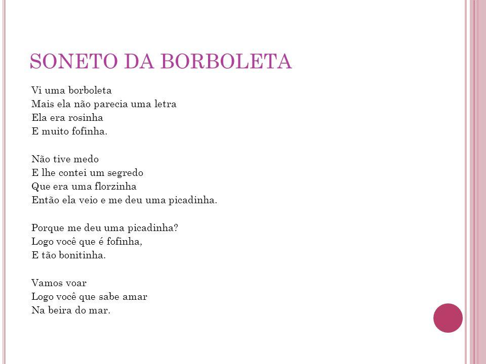 SONETO DA BORBOLETA