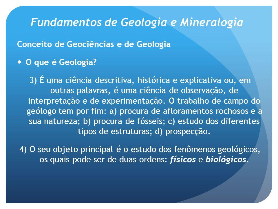 Fundamentos de Geologia e Mineralogia