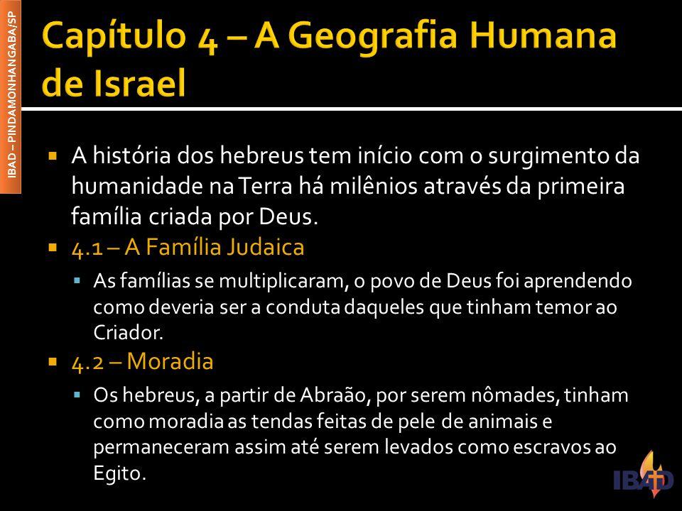 Capítulo 4 – A Geografia Humana de Israel