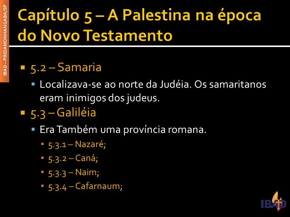 Capítulo 5 – A Palestina na época do Novo Testamento