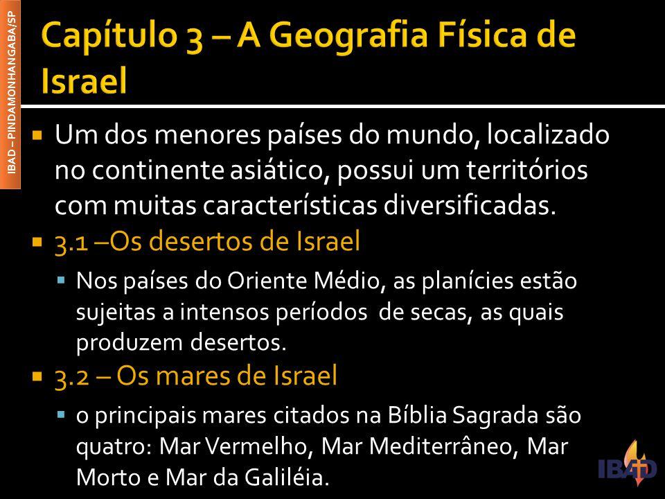 Capítulo 3 – A Geografia Física de Israel