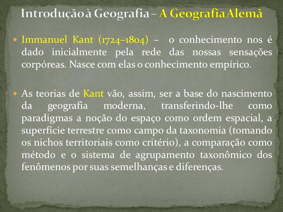 Introdução à Geografia – A Geografia Alemã