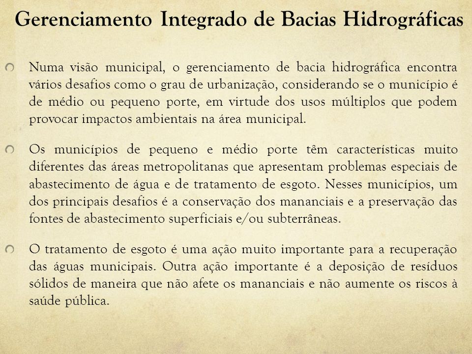 Gerenciamento Integrado de Bacias Hidrográficas