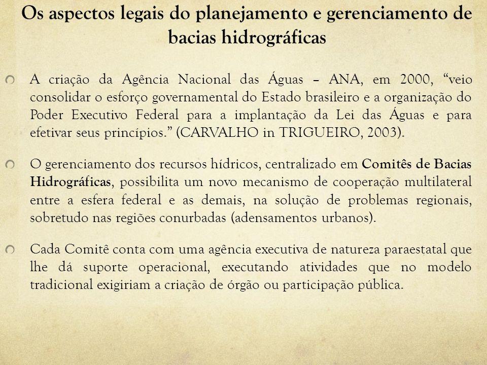 Os aspectos legais do planejamento e gerenciamento de bacias hidrográficas