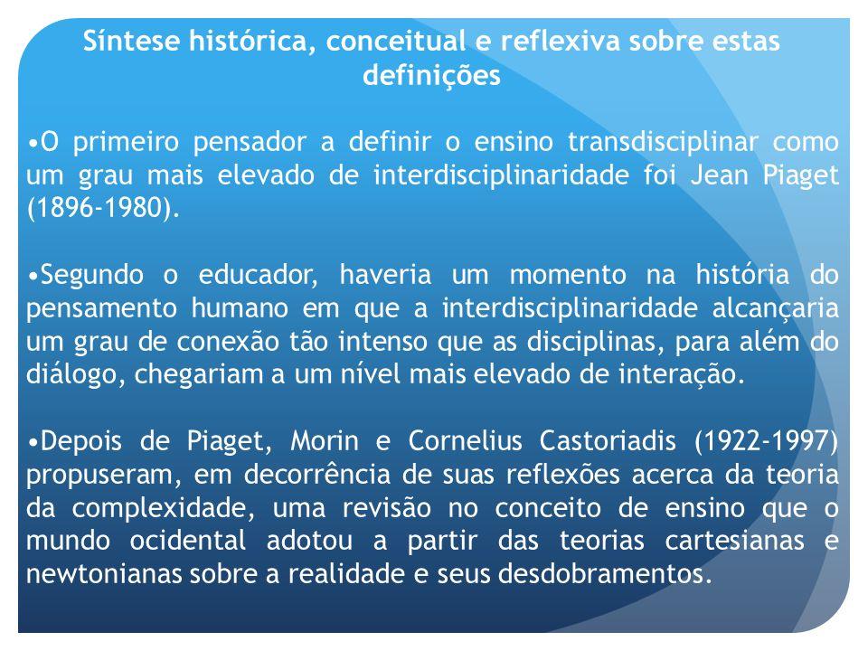 Síntese histórica, conceitual e reflexiva sobre estas definições
