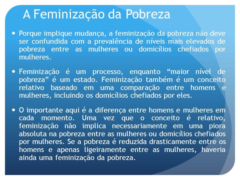 A Feminização da Pobreza