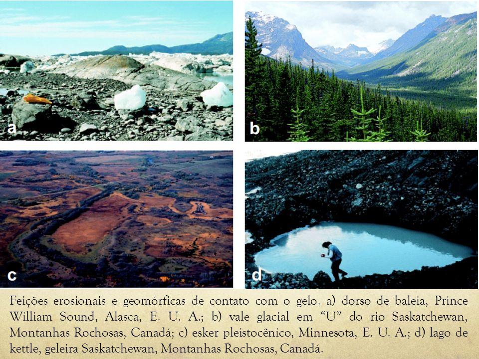 Feições erosionais e geomórficas de contato com o gelo