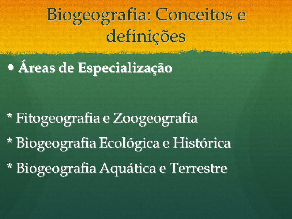 Biogeografia: Conceitos e definições