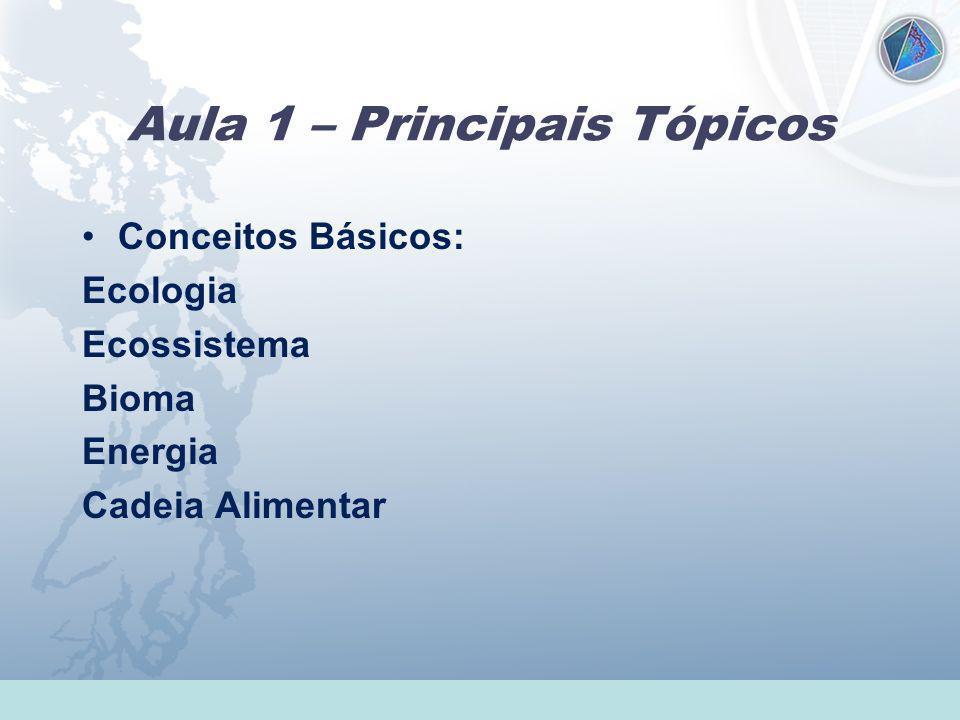 Aula 1 – Principais Tópicos