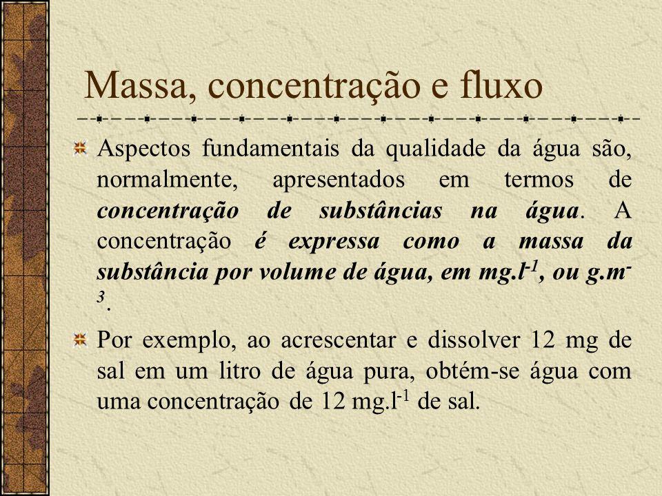 Massa, concentração e fluxo