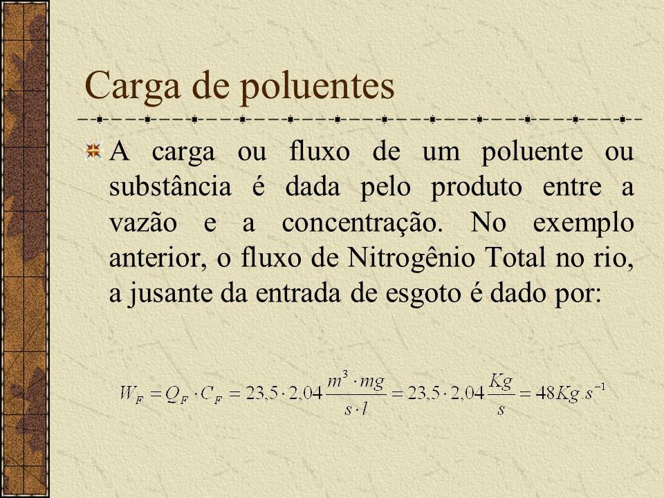Carga de poluentes