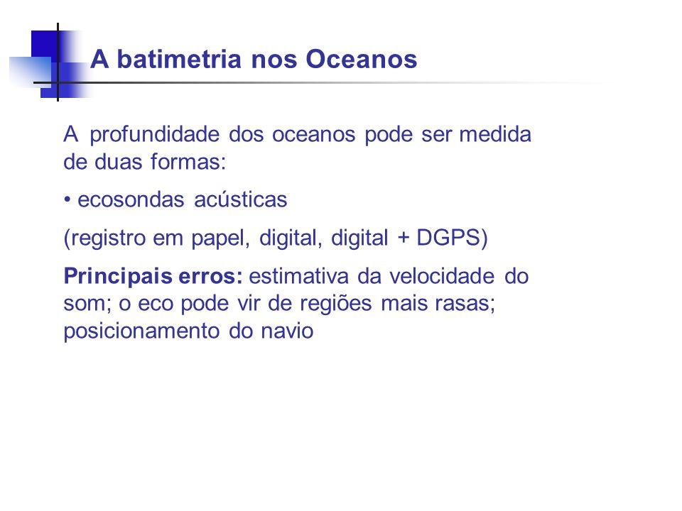 A batimetria nos Oceanos