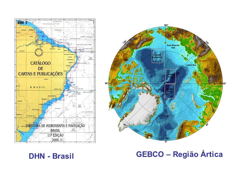 GEBCO – Região Ártica DHN - Brasil
