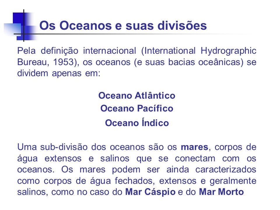 Os Oceanos e suas divisões