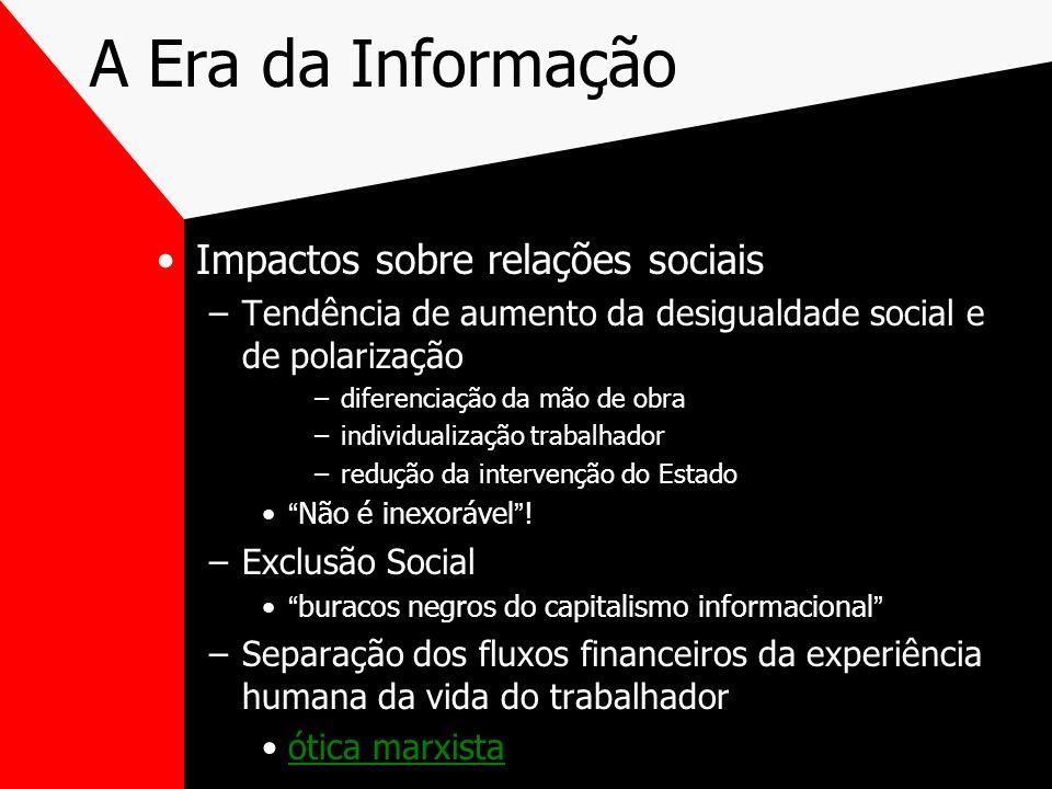 A Era da Informação Impactos sobre relações sociais