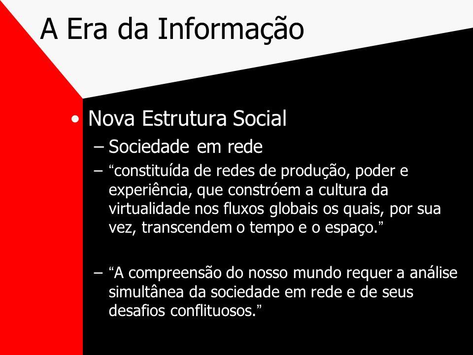 A Era da Informação Nova Estrutura Social Sociedade em rede