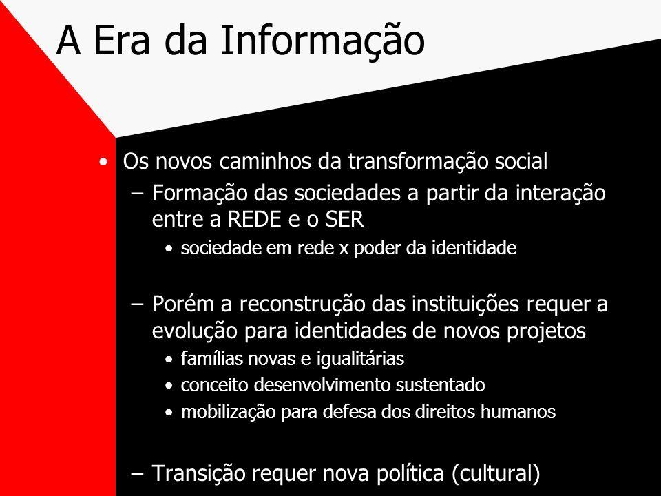 A Era da Informação Os novos caminhos da transformação social