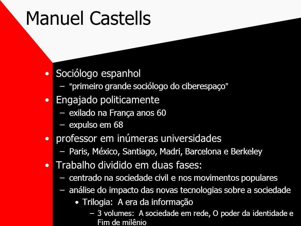 Manuel Castells Sociólogo espanhol Engajado politicamente